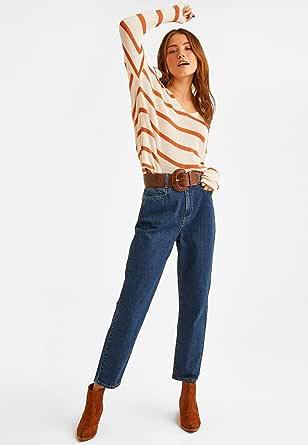 بنطال جينز كاجوال بخصر مرتفع من او اكس اكس اوه للنساء، قياس XS