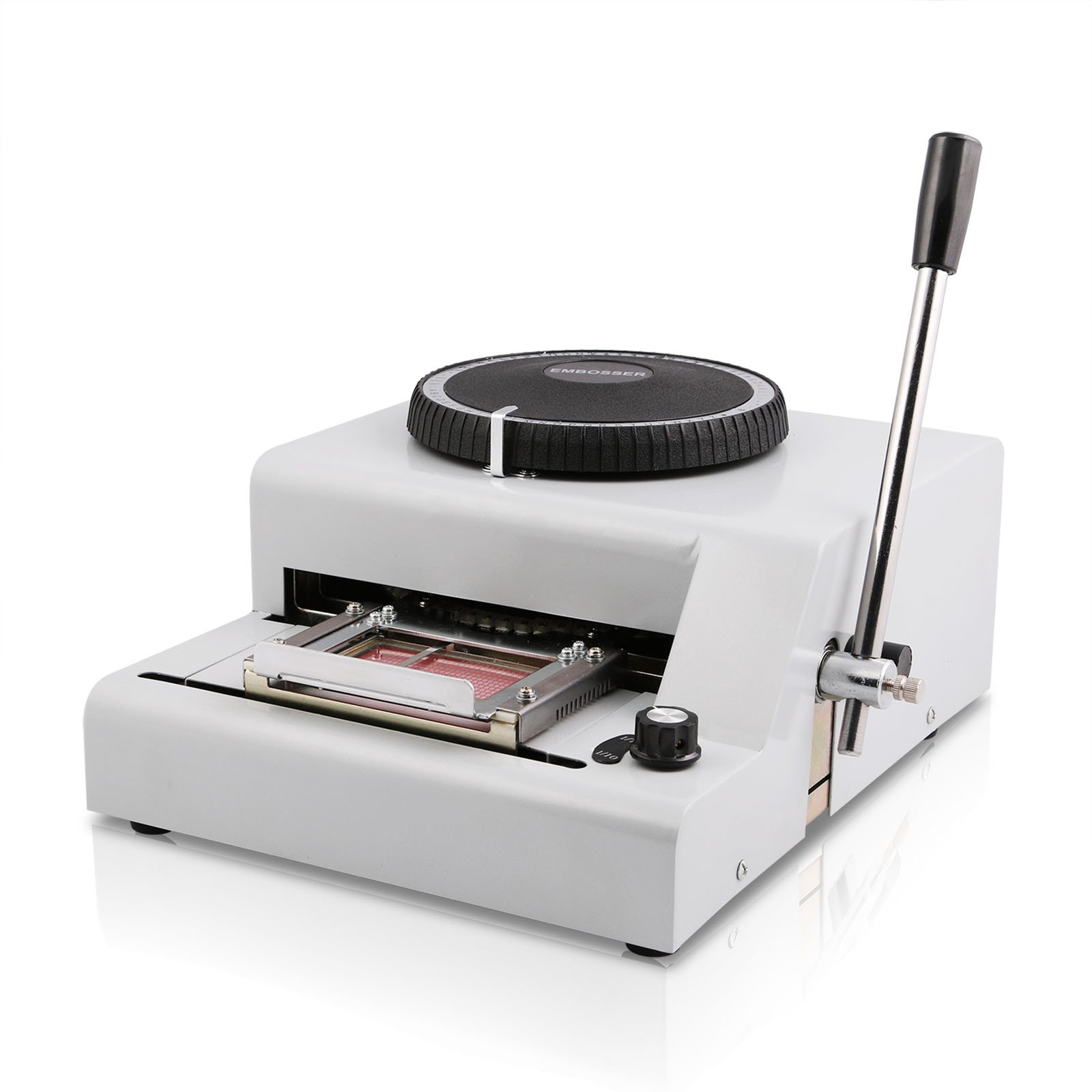 Happybuy 72Characters 72 Characters Printer PVC Card Stamping Machine Credit ID VIP Magnetic Embossing by Happybuy