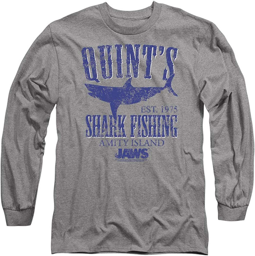 Jaws Quint's Shark Fishing Movie Longsleeve T Shirt & Stickers