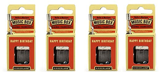 Kikkerland - feliz cumpleaños manivela Caja de música juego ...