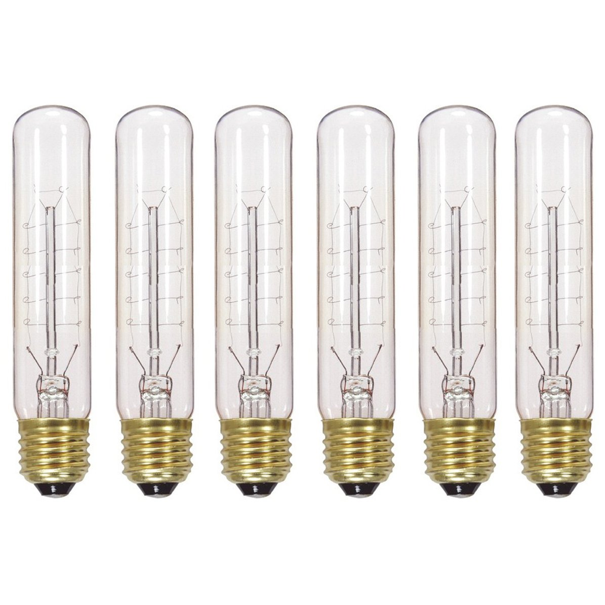 Satco S2415 20W 120V T9 Hairpin Style Filament Vintage Incandescent Bulb, 6-Pack