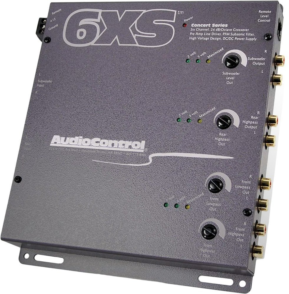 6XS - AudioControl 6 Channel Electronic Crossover W/ Wired Bass Remote by AudioControl