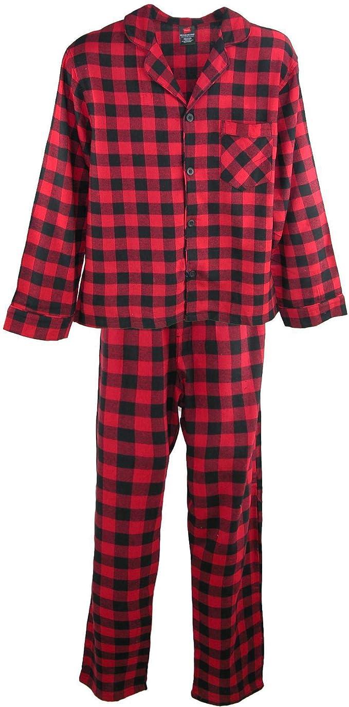 Hanes - Pijama de Franela de algodón para Hombre: Amazon.es: Ropa ...