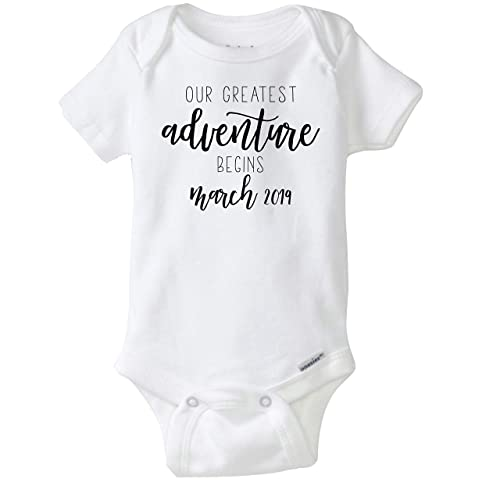And The Adventure Begins White Baby Onesie