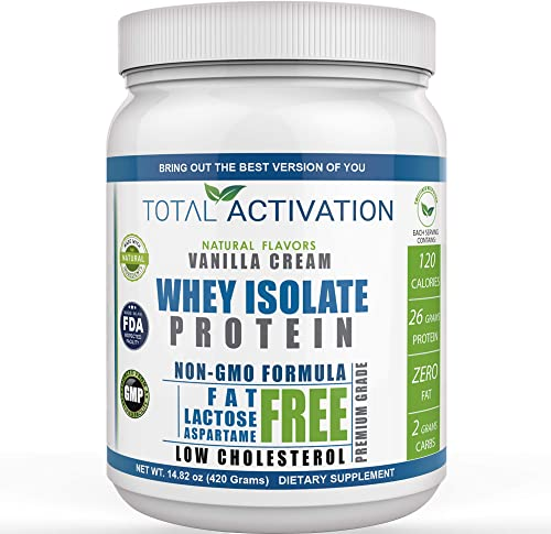 Lactose Free Protein Powder for Women Men Whey Isolate Low Carb Low Calorie with Stevia Monk Fruit Sunflower Lecithin Compare with Men Protien Shake Powders Delicious Vanilla 14.82 oz