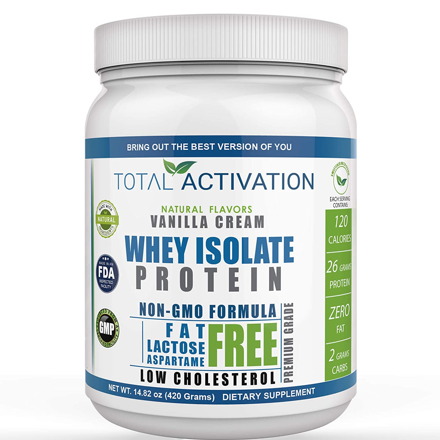 Lactose Free Protein Powder for Women Men Weight Loss Whey Isolate Low Carb Low Calorie with Stevia Monk Fruit Sunflower Lecithin Compare with Men Protien Shake Powders Delicious Vanilla 14.82 oz