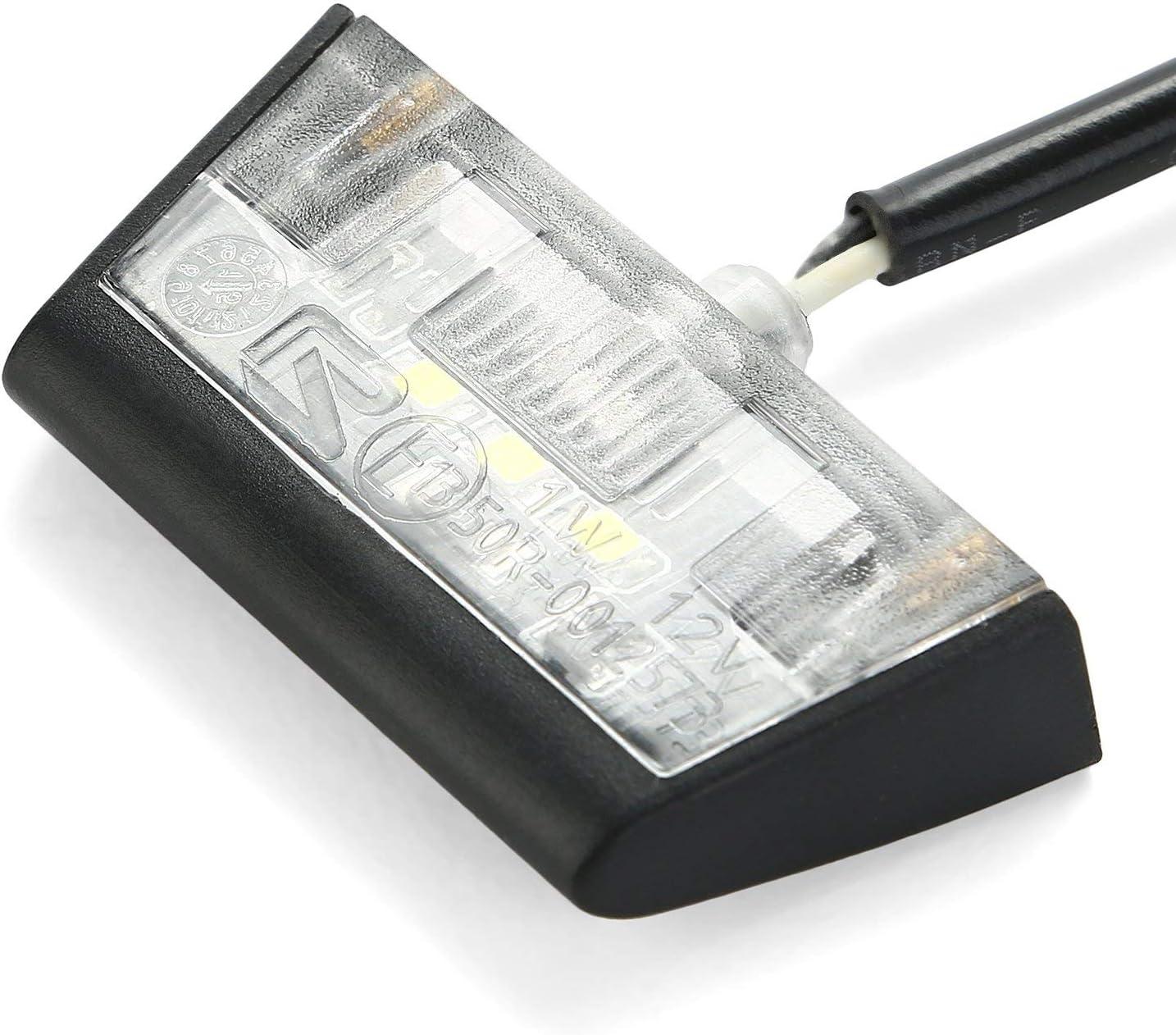 Cicmod Motorrad Mini Led Kennzeichenbeleuchtung Nummernschildbeleuchtung License Plate Tail Light Auto