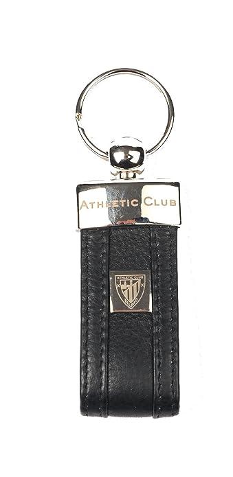 Athletic Club Bilbao Llavero Oficial Piel Negro con Escudo Metálico y  Grabado con Letras  Amazon.es  Joyería 95b6ed381c2b2