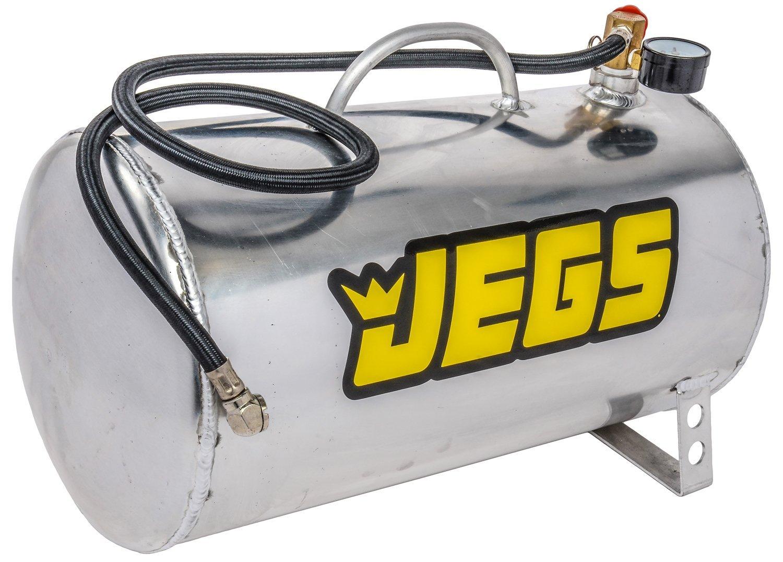 JEGS 81001 5 gal. Horizontal Portable Aluminum Air Tank, 19' L x 9' Dia.