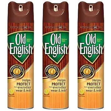 Old English Furniture Polish Spray Lemon 12 50 Oz Pack Of 3