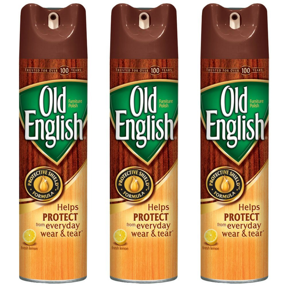 Old English Furniture Polish Spray, Lemon 12.50 oz (Pack of 3)