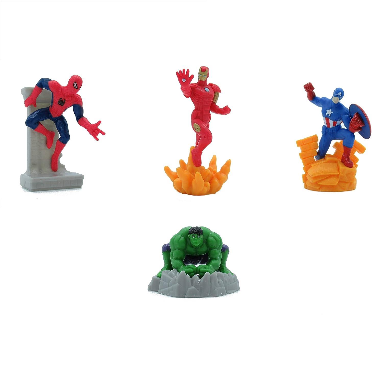 Avengers Set 4 Mini Figuren 7cm Kuchen Topper Cake Topper Spider Man Iron Man Captain America Hulk Original