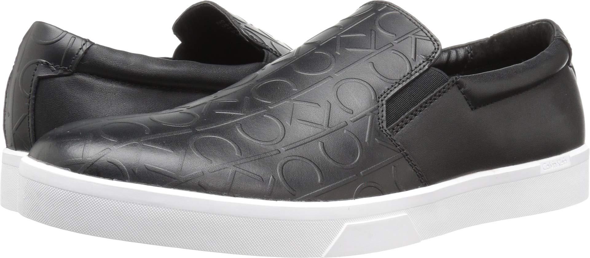 994ef404a8a Galleon - Calvin Klein Men s Ivo Brushed Ck Emboss Slip-On Loafer Black 7.5  M US