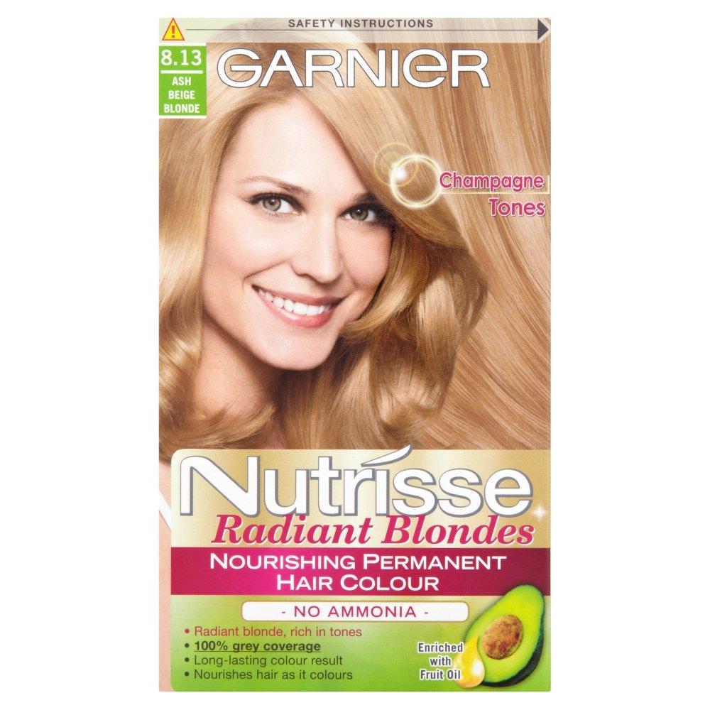 Garnier Nutrisse Creme Permanent Hair Colour 813 Ash Beige Blonde