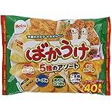 New Japanese Senbei Assortment Bakauke 40pack 5taste (Japam Import)