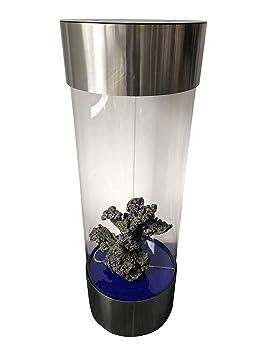 Acuario en forma de columna, hecho de acero inoxidable y acrílico ...