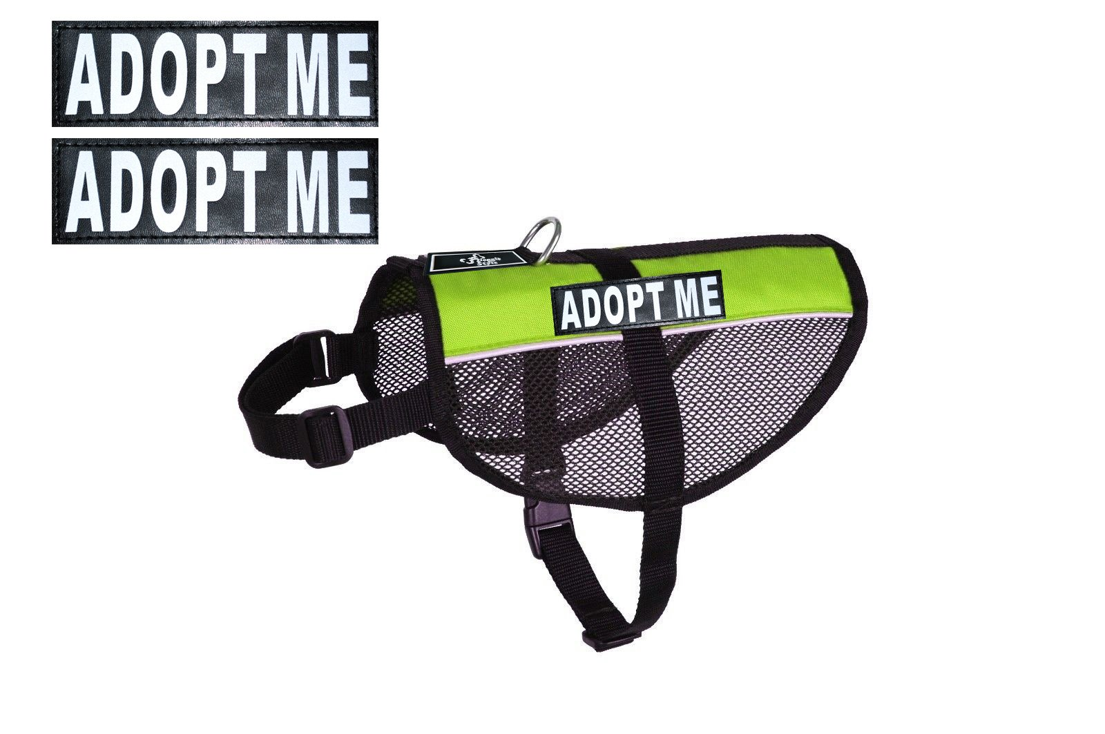 Adopt ME Service Dog mesh Vest Harness Cool Comfort Nylon for Dogs Small Medium Large Purchase Comes with 2 Reflective Adopt ME Patches. Please Measure Your Dog Before Ordering