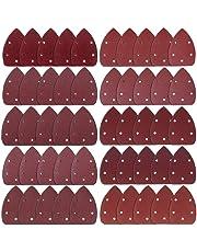 AUSTOR 50 Pieces Mouse Detail Sander Sandpaper Sanding Paper Hook and Loop Assorted 40/60/ 80/100/ 120/180/ 240/320/ 400/800 Grits