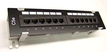 24 Port CAT5e RJ45 110 1U 1RU Network Ethernet Rack Mount Patch Panel Rack