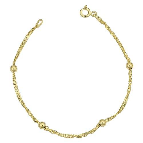Amazon.com: Amarillo (Plata de ley chapada en oro 1,5 mm ...