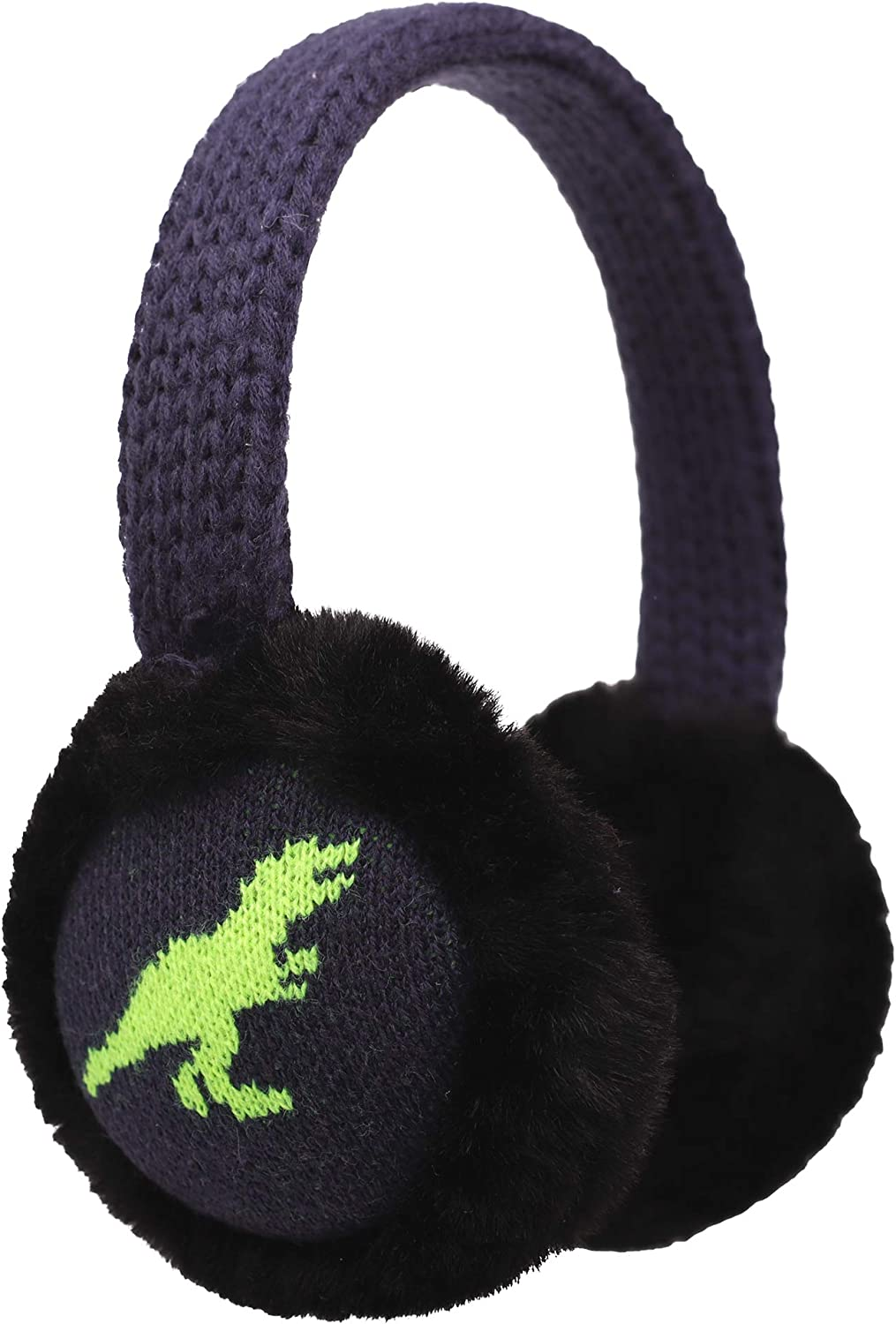 Flammi Kids Knit Earmuffs Winter Outdoor Furry Ear Warmers for...