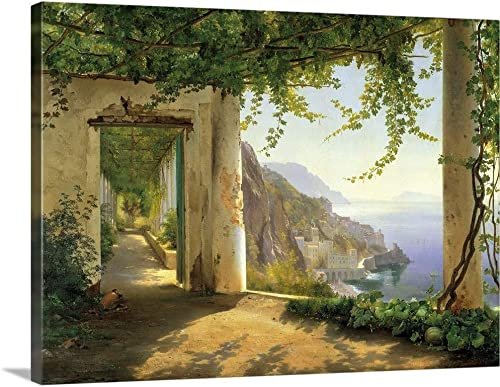View to The Amalfi Coast Canvas Wall Art Print
