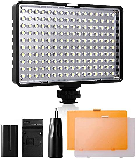 SAMTIAN Luz de Video LED, Yeeteem TL-160S Panel de Luz LED ...