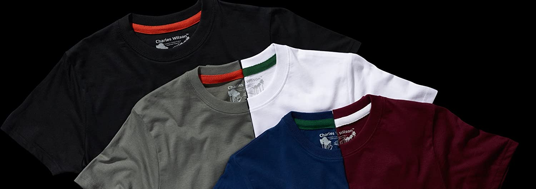 Charles Wilson Confezione da 5 T-Shirt Girocollo Semplice