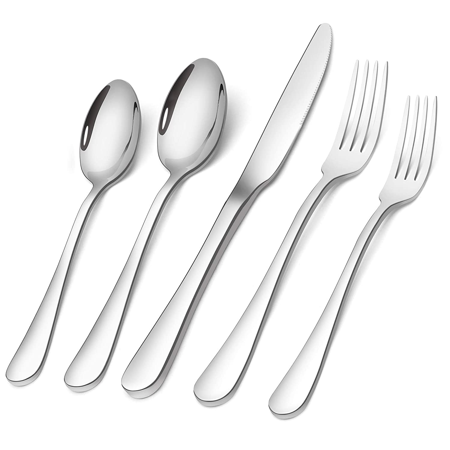 Silverware Set,SHARECOOK 20-Piece Stainless Steel Flatware Set,Kitchen Utensil Set Service for 4,Tableware Cutlery Set for Home and Restaurant, Dishwasher Safe