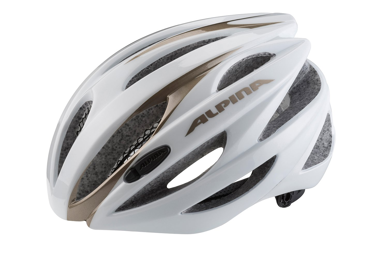 Alpina Rennradhelm Cybric Helm Weiß-prosecco