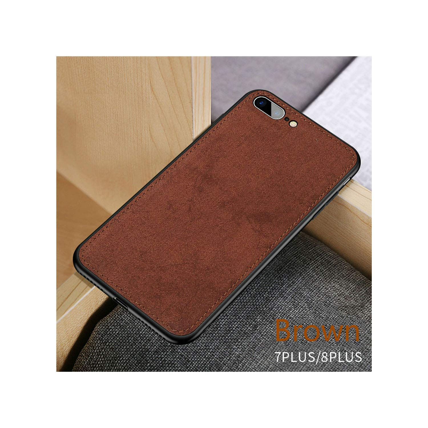 Amazon.com: Fabric Ultra Thin Silicon Phone Case for iPhone ...