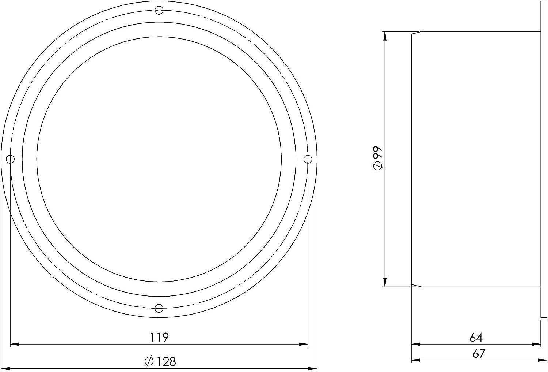 /Ø 100 mm Bride de fixation murale Bride de de raccordement Pour tuyau de ventilation
