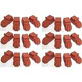 6 x Sets Of Terracotta Colour Plastic Lions Feet Plant Pot Feet 4 Feet Per Set