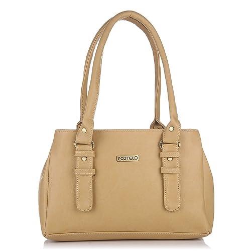 75d4c7fb26 Fostelo Westside Women s Handbag (Beige)  Amazon.in  Shoes   Handbags