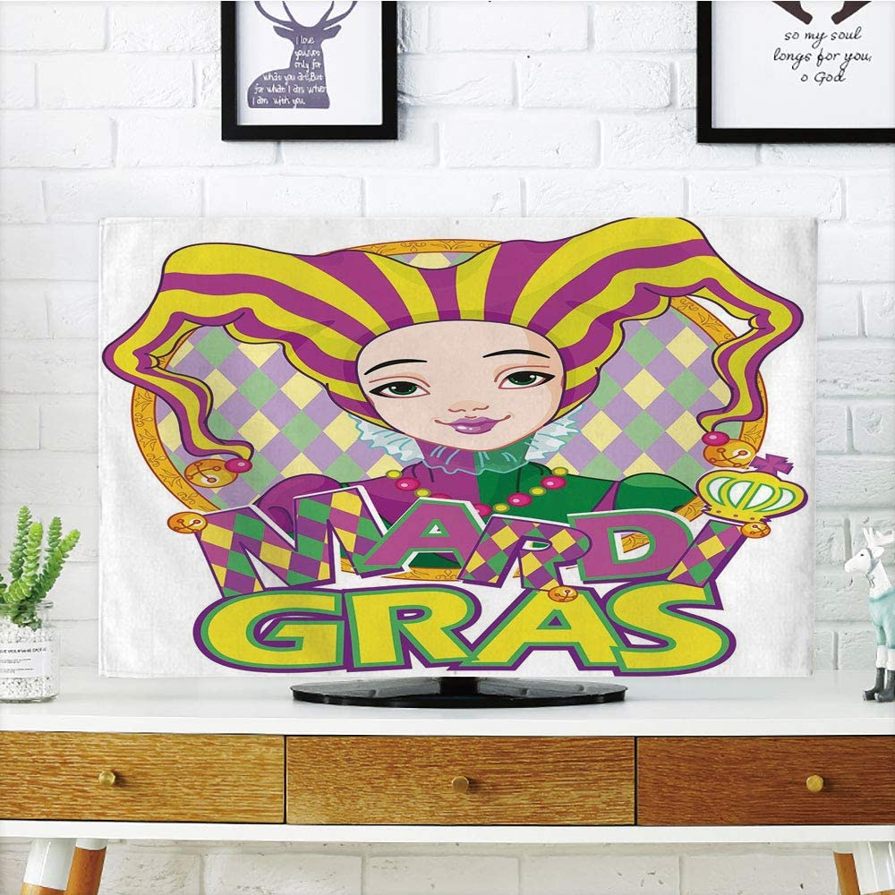 Funda para televisor LCD, diseño de Flor de lis Antigua con patrón ...