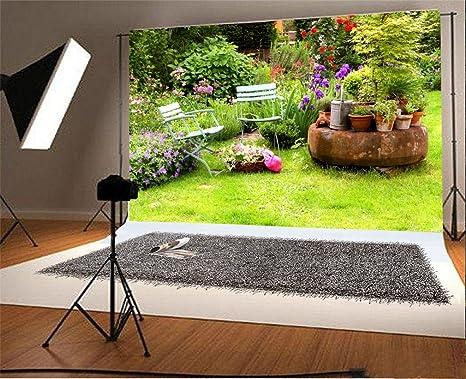 YongFoto 1,5x1m Vinilo Fondo de Fotografia Casa Jardín Primavera Patio Césped verde Telón de Fondo Fiesta Niños Boby Retrato Personal Estudio Fotográfico Accesorios: Amazon.es: Electrónica
