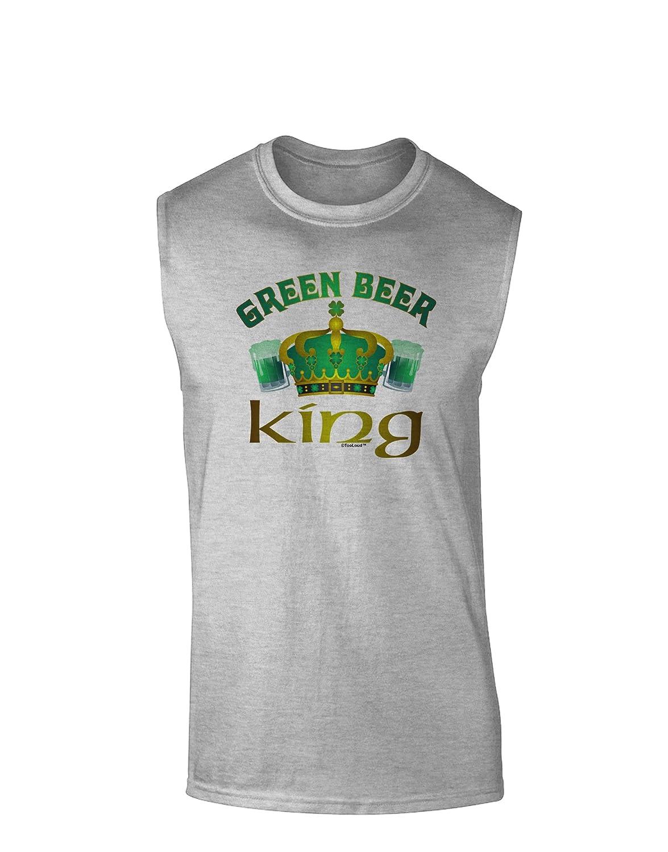 TooLoud Green Beer King Muscle Shirt