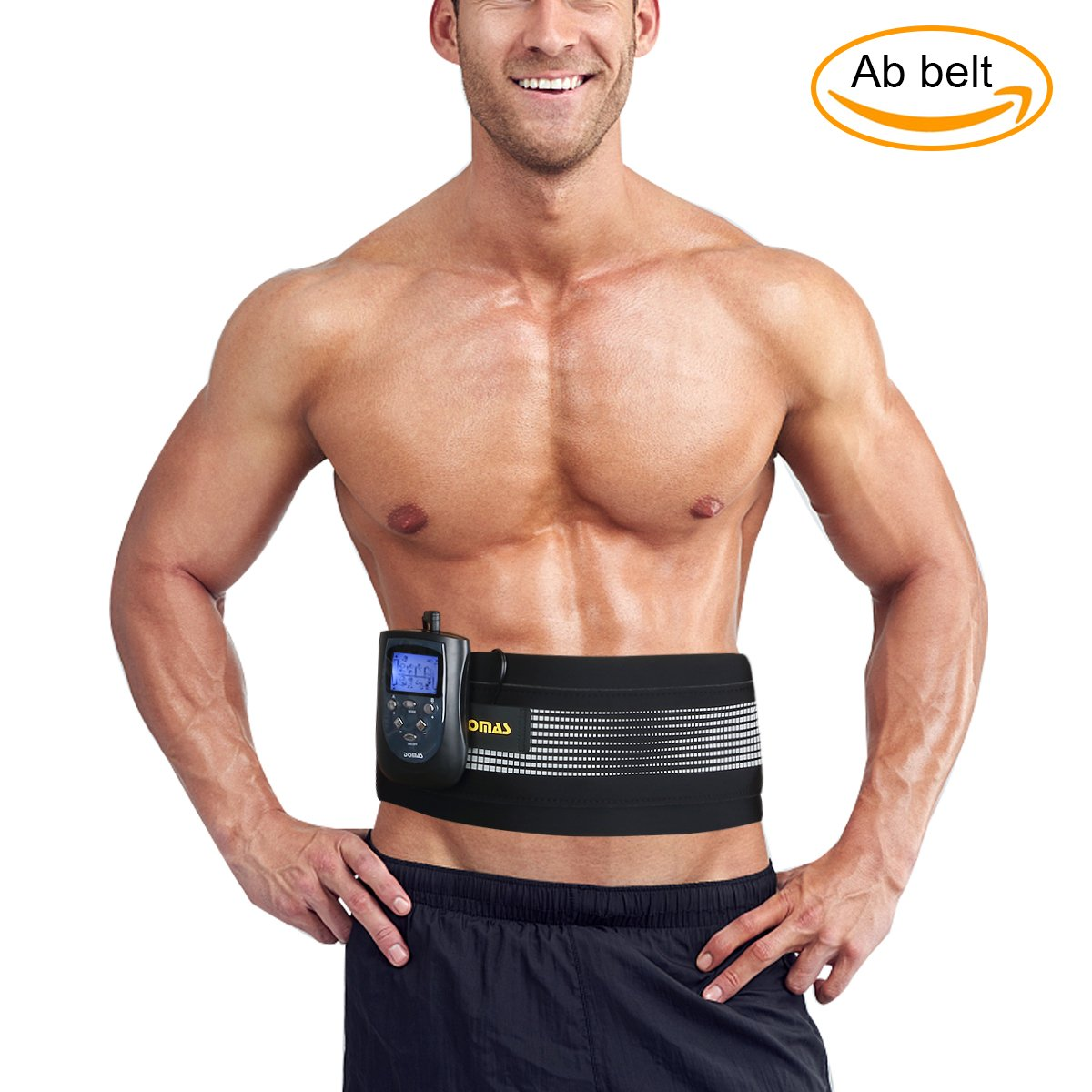 DOMAS Ab Belt Abs Stimulator Electronic Muscle Stimulator Toning belt for Men and Women by DOMAS