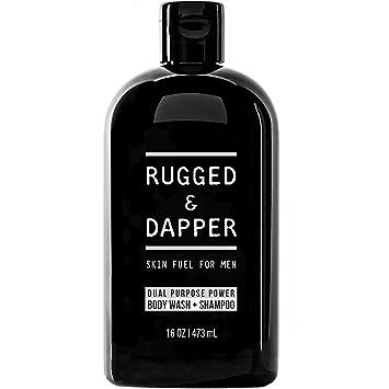 RUGGED & DAPPER Dual-Purpose Body Wash and Shampoo for Men, 16 Oz