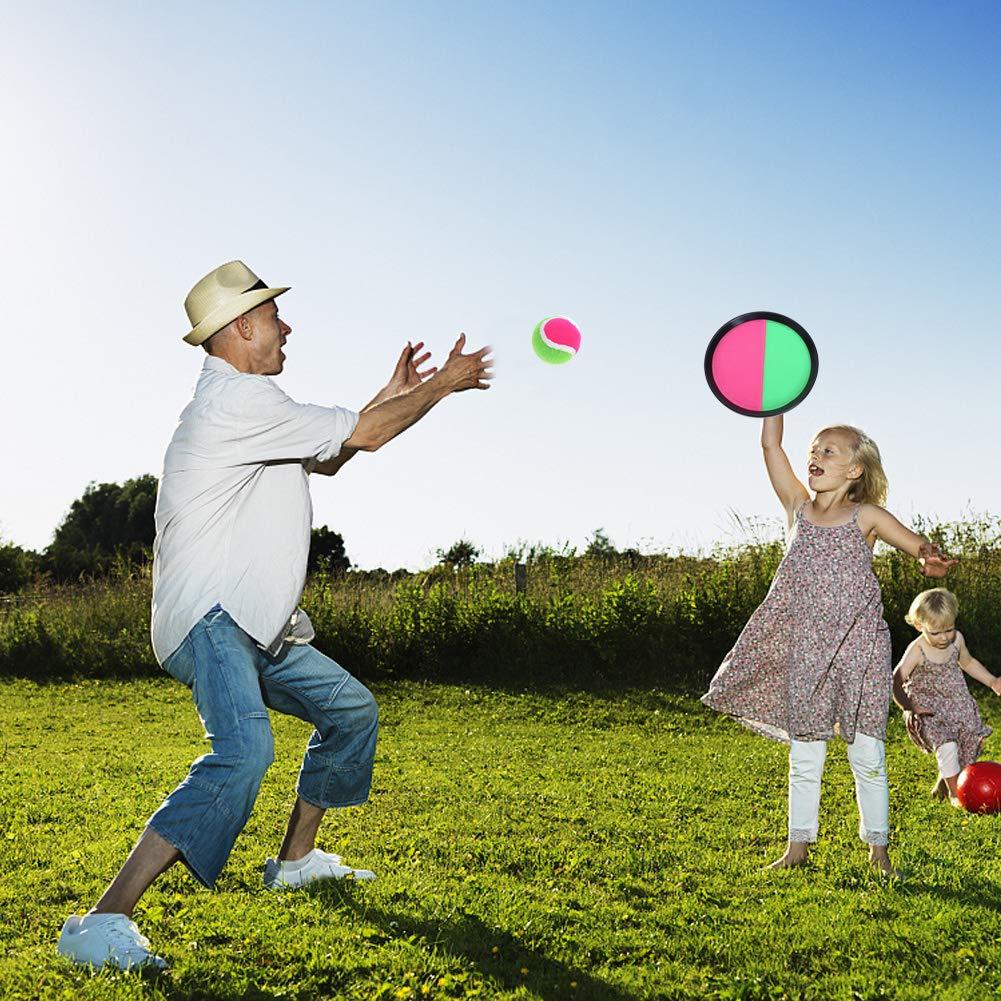 Vidillo Toys Jeu de pagaie et de Jeu de pagaie Jeu de pagaies et Jeu,Jeux de Raquettes Jeu de Scratch pour Enfants,Tennis Ball setJeu De Raquettes Set Jumbo Badminton,Beach Catch Game-Jouets de Plage