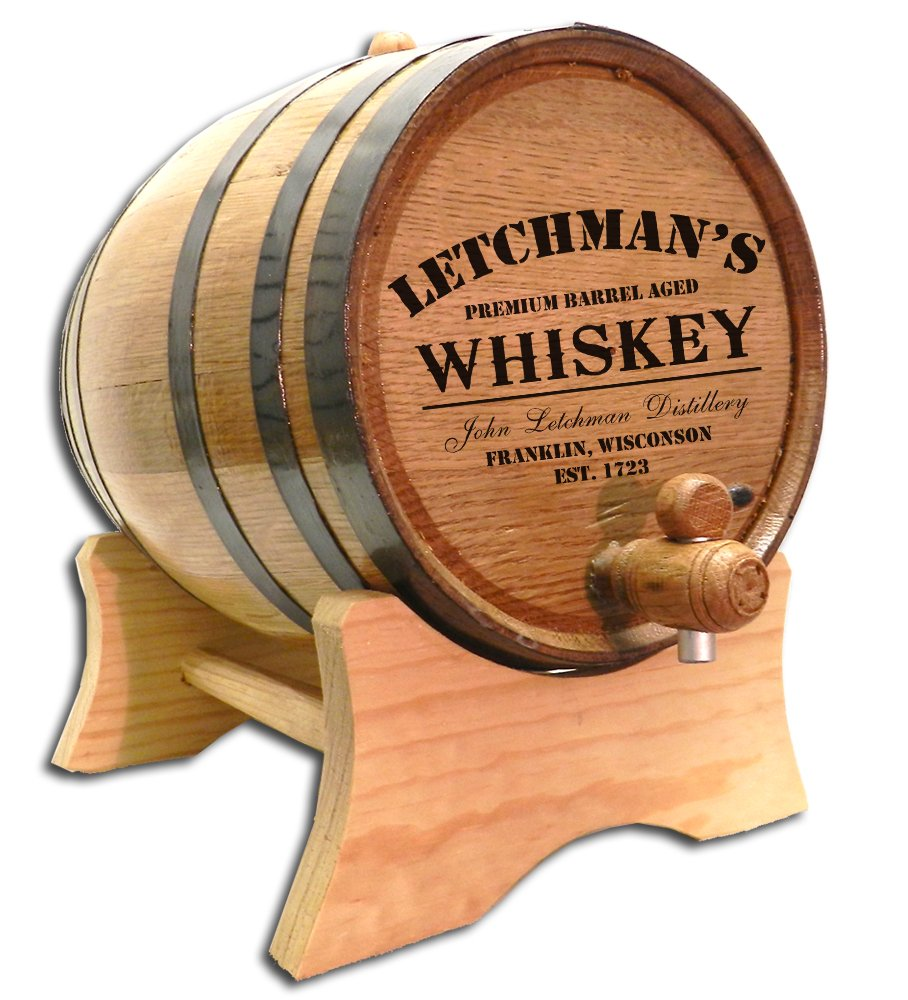 Personalized Distillery Design 10 Liter White Oak Barrel