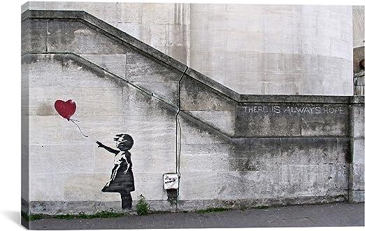 "Cash machine Girl 24/""x36/"" Canvas Print Banksy"