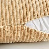 MIULEE Pack of 2, Corduroy Soft Soild Decorative