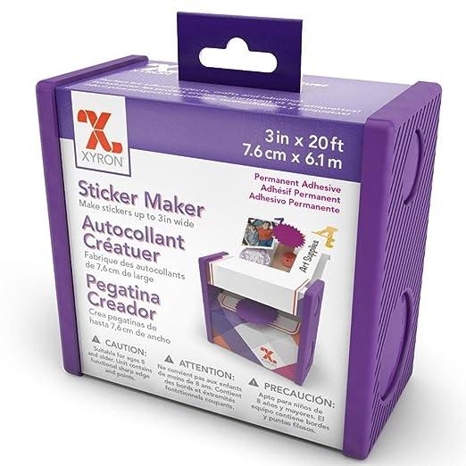 Xyron xyron 3 disposable sticker maker 3 x 20 permanent amazon co uk kitchen home