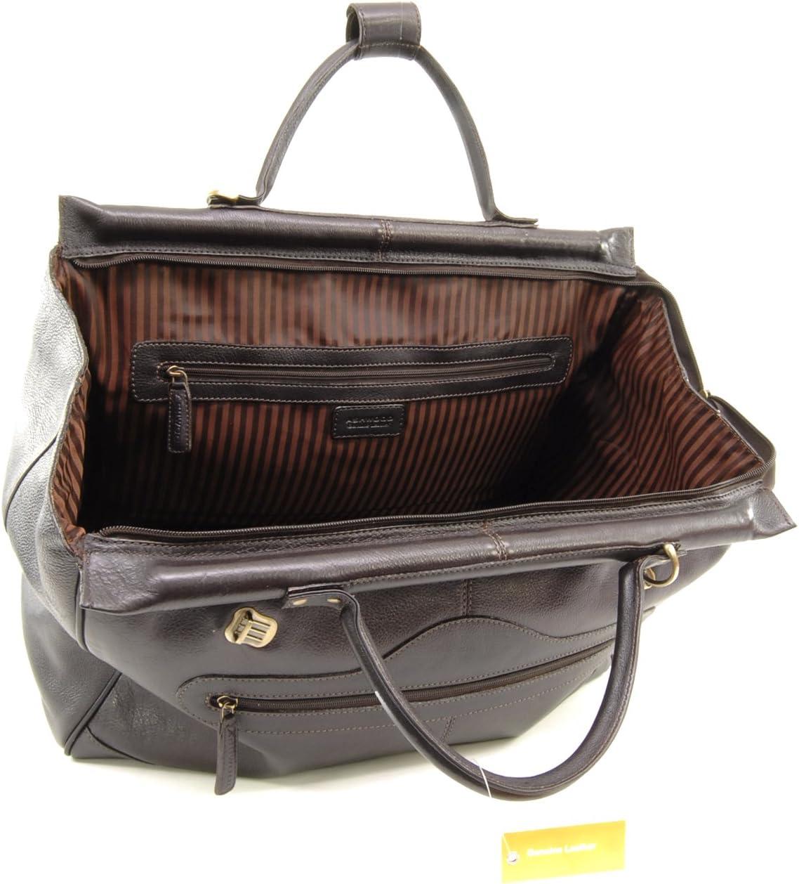 Marron Gladstone Cuir Vintage Texture ASHWOOD Grand Sac de Voyage//Sport//Duffel//Bagages Cabine