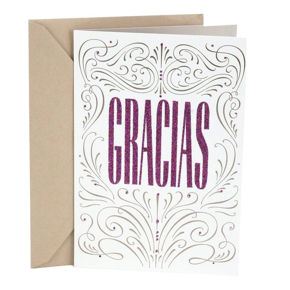 Amazon Hallmark Vida Spanish Thank You Card Gracias Office