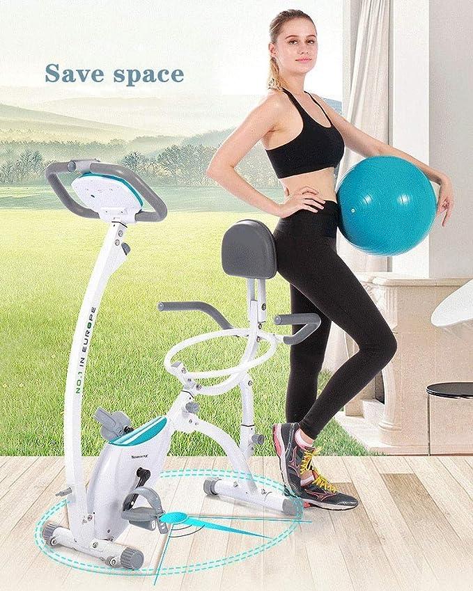 Bicicleta estática con asiento de bola de yoga, bicicleta de spinning, bicicleta de interior, estacionaria, equipo de entrenamiento para el hogar, oficina, cardiovascular, equipo de fitness: Amazon.es: Deportes y aire libre