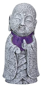 Ksitigarbha Jizo Ojizo Sama Japanese Figure, Purple