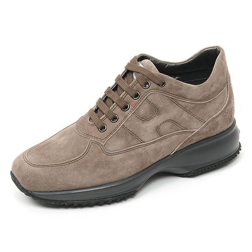 B9494 sneaker donna HOGAN INTERACTIVE scarpa beige scuro shoe woman