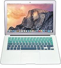 Protector Skin de Teclado para Macbook en Español compatible con: Macbook Air 11'' VERDE DEGRADADO